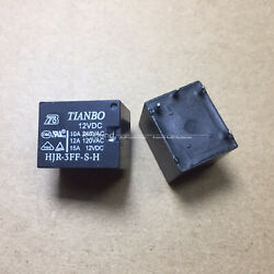 10ps Relay Hjr-3ff-sh 12vdc T73-1a Four-pin Normally Open Can Replace Jqc-3ff-hs