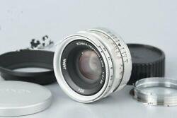Konica Hexanon 35mm F/2 L39 For Leica Screw Mount Tested Working Ex++ Rare
