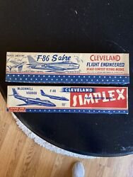 Vintage 1950andrsquos Model Airplanes Cleveland F-86 F-88 Never Used