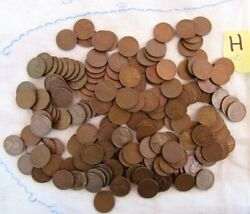 Lot 178 1940 Lincoln Copper Wheat Pennies From Estate Us Coins Unsearched  M