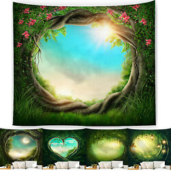 Tapestry Fantasy Forest Fairy Tale World Print Blanket Wall Hanging Decorations`