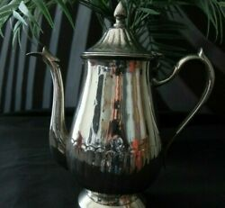 Collectible Vintage Silver Electroplated Nickel Tea/coffee Pot-epns-circa 30and039s