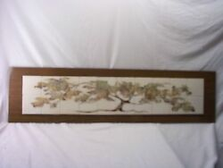 Tree Of Life,hand Painted Fired Ceramic,tile Art,measures 49inches X 12inches