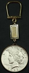 1922 Peace Silver Dollar Cleaned Made Into Key Chain