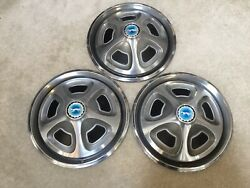 3 Mercury Cougar 14andrdquo Hubcaps /wheel-covers For 1969-1970 With Cougar Logo