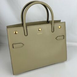 Authentic New Burberry Small Leather Beige Satchel 8024689 $898.36