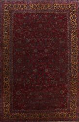 Pre-1900 Antique Floral Traditional Oriental Area Rug Palace Size Handmade 11x15