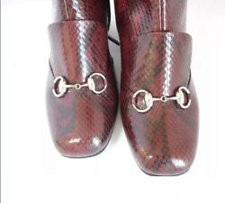 39.5 Lillian Burgundy Python Boots. Sold Out 3500