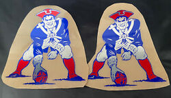 New England Patriots Football Helmet Decals Full Size High Quality Chrome