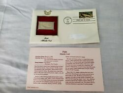 Golden Replicas Stamp Us Stamps Postal Comm. Society Fish Atlantic Cod 1986