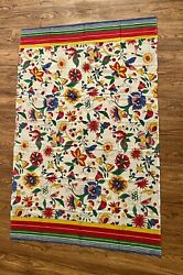 Vtg Les Olivades Cotton Fabric Wrap Table Cloth Fabric French Floral Country