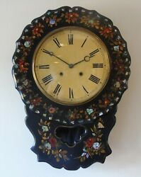 Victorian Mother Of Pearl Inlaid Wall Clock