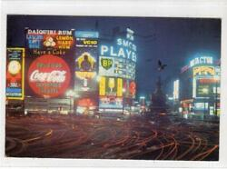 Piccadilly Circus At Night London Postcard With Coca-cola Sign C58781