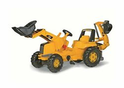 Rolly Toys Cat Construction Pedal Tractor Backhoe Loader Front Loader And E...