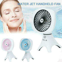 New Portable Water Spray Misting Fan Hand Held Cooling Cool Mist Travel Beach Us