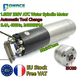 【fra】1.8kw Iso20 220v Automatic Tool Changer Cnc Atc Water Cooled Spindle Motor