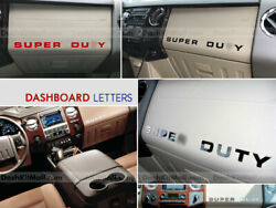 Dkm   Glossy Black Dashboard Letter Inserts For Super Duty 2008-2016 Not Decals