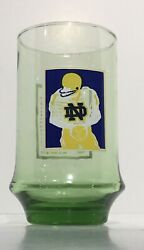 1977 National Champions Notre Dame Football Schedule Glass Rare
