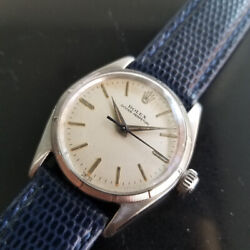 Midsize Rolex Oyster Perpetual Ref.6549 30mm Automatic Watch C.1950s Ra144blu