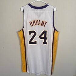 New Nwt Authentic Adidas Rev 30 Kobe Bryant Jersey Los Angeles Lakers White 2xl