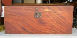 Antique Early 19th Century Maine Original Paint Decorated Dome Top Trunk