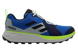 Adidas Menand039s Terrex Two Blue Volt Running Shoes Multiple Size Nib