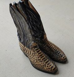 Evel Knievel Worn Cowboy Boots Snakeskin And Leather With Letter Of Authenticity