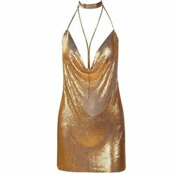 Chainmaille Party Dress By Evelyn Belluci Gold And Silver Available