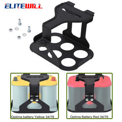 Battery Hold Down Tray Box Mount For Optima Group 34 / 78 Steel Mounting Bracket
