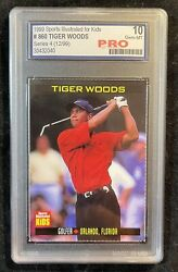 1999 Tiger Woods Si For Kids Pre Rookie Card Graded Pro 10 Hot
