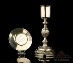 Beautiful Antique Solid-silver Chalice. France 19th Century