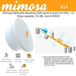 Mimosa Backhaul B24 Point-to-point 24 Ghz 1.5 Gbps Capable 33 Dbi 4x44 Mimo
