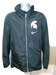 Michigan State Spartans Jacket Men's Small Nike Elite Nylon Official Team Gear