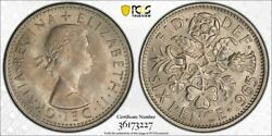 1965 6 Pence Pcgs Ms 64 Great Britain S-4149 High Grade