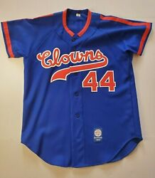 Indianapolis Clowns 44 Ebbets Field Flannels Repro Oop Baseball Jersey Aaron M