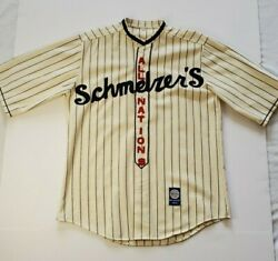 1915 Schmelzers All Nations Ebbets Field Flannels Repro Oop Baseball Jersey Arms