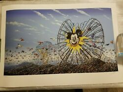 Jeff Gillette Ferris Wheel Giclee Print Exhibited @ Banksy Dismaland / Roamcouch