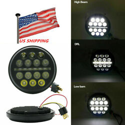 1pc 5-3/4 5.75 Inch Led Projector Headlight Hi/lo For Dyna Motorcycles Round Us