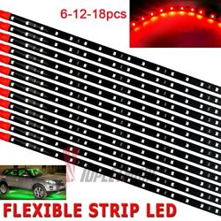 Lot Dc 12v Waterproof 12and039and039/15 Motor Led Strip Underbody Light For Car Motorcycle