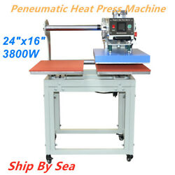 24x16 Heating Plate Movable Double Station Peneumatic Heat Press Machine