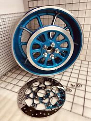 Harley Breakout Rear Wheel And Pull 2013 -17 Oem Custom Metallic Blue Outright