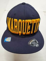 Nwot Marquette Golden Eagles Ncaa Blue Tow Caps Fitted Hat Cap New Without Tags