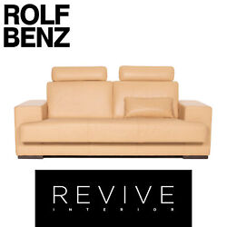Rolf Benz Leather Sofa Three-seater Function Couch