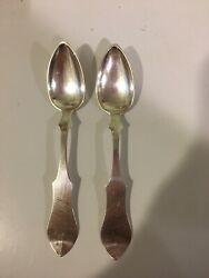 Coin Silver By John Knepfly - From New Albany In - Very Rare Teaspoons ❤️