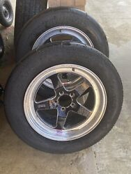 Weld Racing Rt-s S71 Forged Aluminum Polished Rear Wheels 17x10 Used
