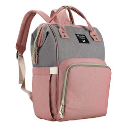 Backpack Diaper Bag Baby Bags for Mom Large Capacity Diaper Backpacks Nappy Tra $33.35