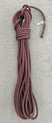 17.5m X 9mm Red / Charcoal Technora Dyneema Double Braid Yacht Sheet Boat Rope