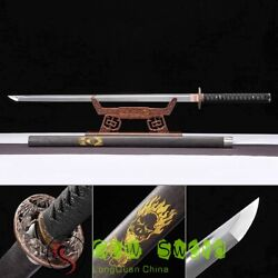 Handmade High Manganese Steel Full Tang Ninja Samurai Swords Japan Katana Sharp