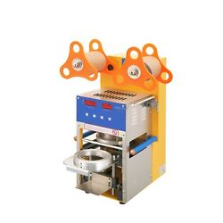 Cup Sealing Machine For Bubble Tea Automatic Plastic Cup Sealer 400-600cups/h...