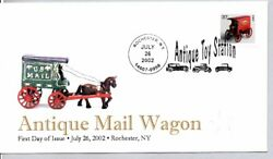 3639 Antique Toy Mail Wagon Coil Stamp First Day Of Issue, Rochester Ny 7/26/02